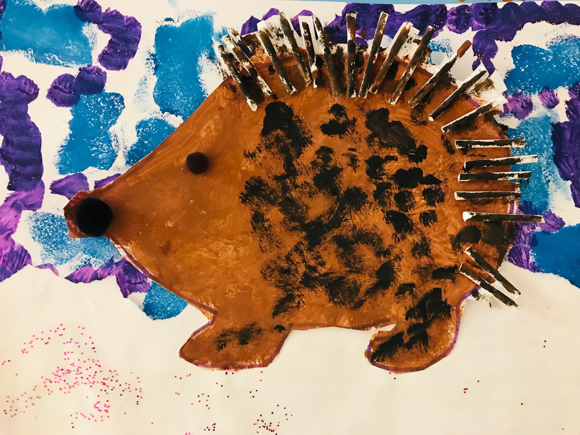 39.-Tracy-Zerwas_Brighton-North-Elementary_Tinsley-Wyatt_Grade-2-Painted-Paper-Art-Straws-Printing-Embellishments-Glitter-Collage
